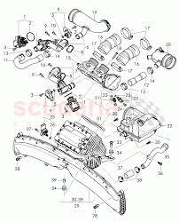 Intake manifold upper part throttle valve cut off valve suction hose