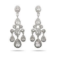 teardrop and oval cz chandelier earrings