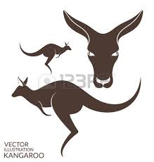 logo with kangaroo in red triangle 2 851 kangaroo sign cliparts stock vector and royalty free
