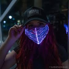 Led Light Up Mask Purge Light Up Purge Mask Black