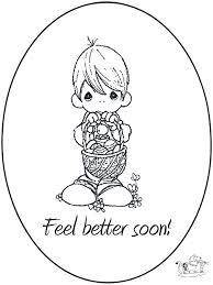 Get Well Soon Coloring Pages Feel Better Coloringstar