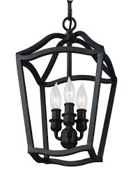 antique forged iron yarmouth 3 light chandelier with central candle cer