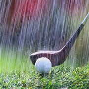 Image result for rain on golf course