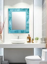 sea blue mirror mosaic tile mirrors