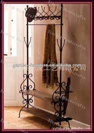 Iron Coat Rack Stand Metal Coat Rack Stand Free Standing Hat Coat Shoes Shelf Functional 72