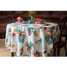 pioneer woman tablecloth. the pioneer woman country garden tablecloth round, walmart