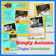 newsletter template for pages simply autumn newsletter template for ipads iphones macs