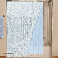 white lace shower curtain. How To Make Shower Curtain Longer Awesome White Lace Attached Valance Blue Liner L