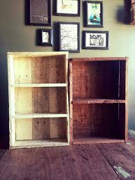 diy pallet box style shelves and e racks