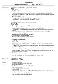 Technical Writer Resume Samples Junior Technical Writer Resume Samples Velvet Jobs