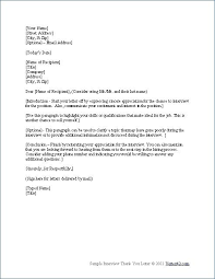 Best 5 Short Thank You Letter After Interview Template Word Pdf Doc