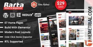 Wordpress Template Newspaper Wordpress Themes Barta V1 9 7 News Magazine