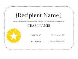Sample Certificate Templates Certificates Templates Certificate Of Recognition Template Free Year