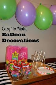 simple balloon decoration ideas for birthday party at home candy