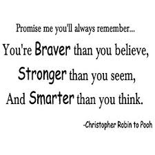 Christopher Robin Quotes Impressive Amazon YOU'RE BRAVER THAN Christopher Robin Wall Quote Decal