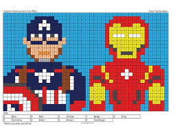 Be the first to comment. Megapixel Characters Coloring Squared Captain America Party Decorations Captain America Party Cool Coloring Pages
