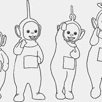 Small Picture Teletubbies Coloring Pages All Kids Network