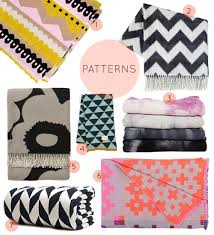 Patterned Blankets Inspiration Interior Patterned Throw Blanket Current Obsessions Cozy Blankets