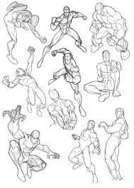 Male Stance And Action Poses Gesture Drawings In 2019