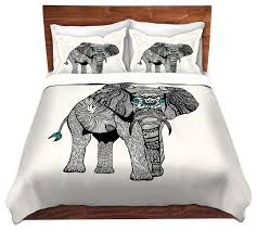 dianoche duvet covers twill by pom graphic design one tribal elephant