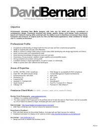 Freelance Graphic Designer Resume New Freelance Resume Sample