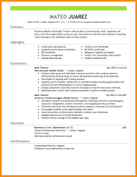 Teacher Resume Template Free Resume Teacher Resume Templates 14