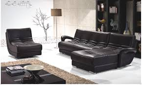Living Room:Luxury Black Living Room Decoration With Cozy White Sofa Idea  Modern Black Leather