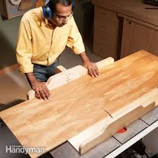 build these simple table saw sledake perfectly square cross cuts and flawless 45 degree miter cuts in both small and wide boards