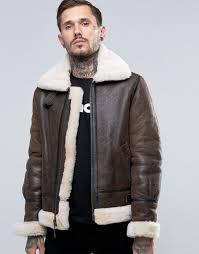 schott shearling flight jacket brown men schott cafe racer jacket