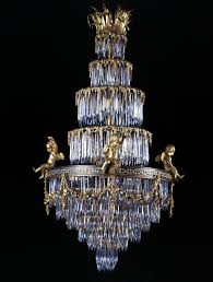 baccarat a rare crystal and gilt bronze waterfall chandelier french inside widely used waterfall crystal chandelier