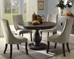 astonishing round table dining set white chair wooden table gray wall design