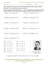 linear equations in standard form worksheet free worksheets