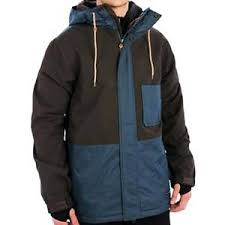 Holden Outerwear Size Chart Details About Holden Mens Edison Snow Jacket Flint Orion Blue Large Nwt