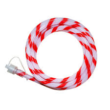Led Rope Lights Home Depot Home Accents Holiday Outdoor Indoor 40 Ft Line Voltage Soft White Integrated Led Rope Light Flexible Candy Cane Style Holiday Lights