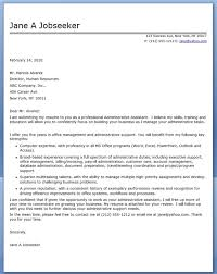 Sample Cover Letter For Administrative Assistant