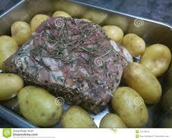 Raw Lamb Roast Stock Image Image Of Uncooked Seasoned 110153319
