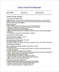 Cna Resume Template Free Creative Resume Templates 9 Cna Resume Samples Sample Templates