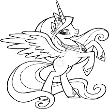 My Little Pony Friendship Is Magic Coloring Pages My Little Pony