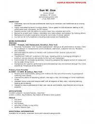 Resume Objective For Nursing Mind Mapping Nutrition Resume