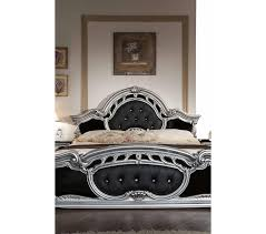 Silver And Black Bedroom Dreamfurniturecom Rococo Italian Classic Black Silver Bedroom Set