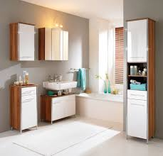 Bathroom Under Cabinet Storage Great Modern Bathroom Wall Cabinet Design With White Glossy Accent