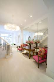 how to remove wall mirror contemporary entry also chandelier crown molding mirrored wall pillow oval console table pink arm chairs staircase white
