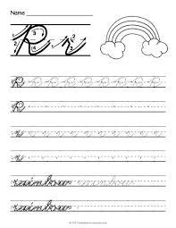 Letter For Banner Free Printable Cursive Letters Free Printable Cursive R Worksheet
