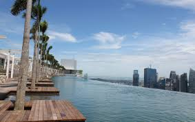 infinity pool singapore edge. Located 57 Flights Up And Overlooking Singapore\u0027s Bustling Financial District, The Infinity Pool At Sands Singapore Edge