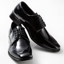 tuxedo shoes patent leather black moc square toe mens