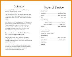 Memorial Pamphlet Template Funeral Service Template Free Memorial Program Pdf Helenamontana Info