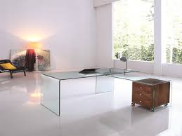 large l shaped office desk. Ultra Modern L-shaped Glass Desk With Walnut Cabinet Large L Shaped Office C