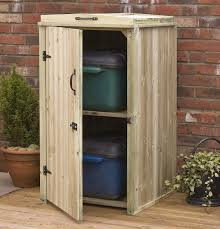 recycling box storage outdoor wooden cover screen for 2 recycle boxes