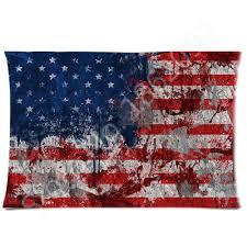 American Flag Pillow Case Graffiti Art USA Flag Pillows Cover