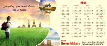 Travel Calendar 3x7 Square Corners Travel Calendar Magnet 20 Mil Calendar Magnets